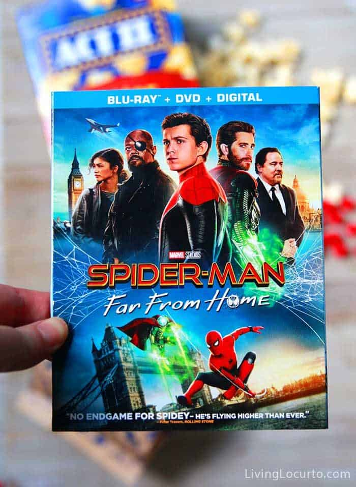 Spider-Man: Far From Home on DVD and Blue-Ray - Spiderman Candy Popcorn Recipe