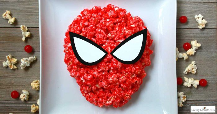 How to make Spiderman Candy Popcorn - Easy Party Snack Recipe and Free Printables