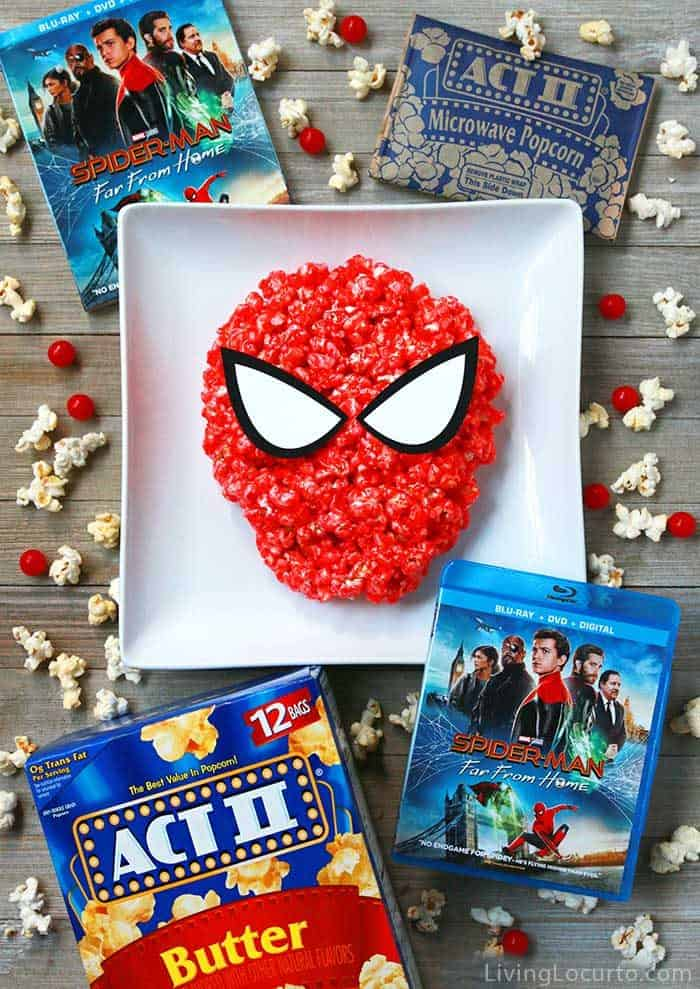 Spiderman Candy Popcorn