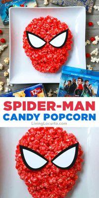 Easy Spiderman Candy Popcorn Recipe Snack Party Ideas
