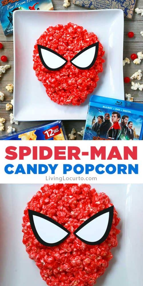 Easy Spiderman Candy Popcorn Recipe Snack Party Ideas