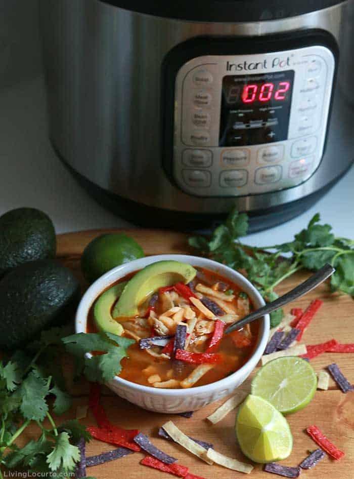 Best Instant Pot Chicken Tortilla Soup Recipe - Living Locurto