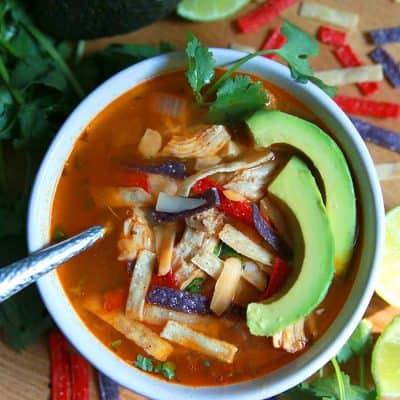 Instant Pot Chicken Tortilla Soup Recipe