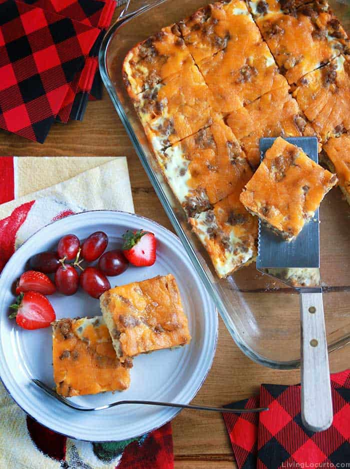 Best Sausage Egg Casserole recipe with cheese for breakfast.