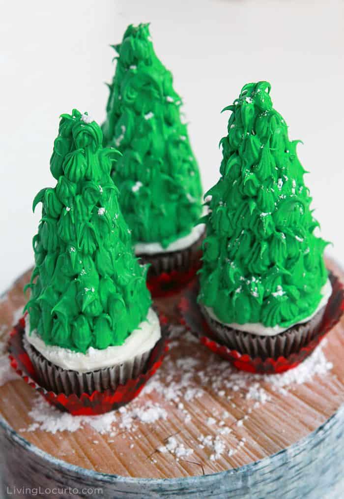 Easy Christmas Tree Cupcakes - Fun Holiday Dessert Recipe - Living Locurto