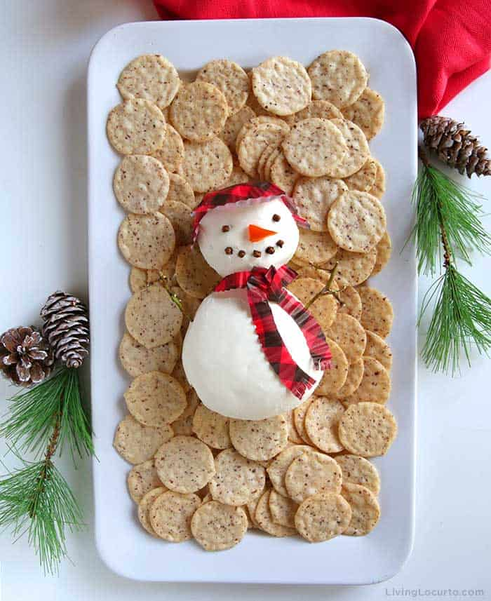 Snowman Cheese Ball Recipe