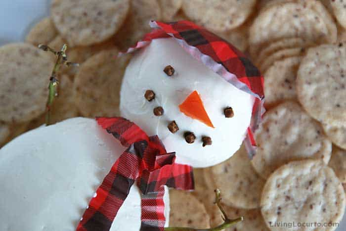 Snowman Cheese Ball Recipe - Living Locurto