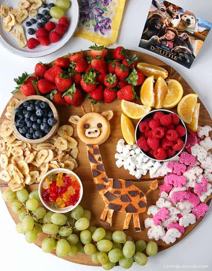 Giraffe Cake Dessert Board