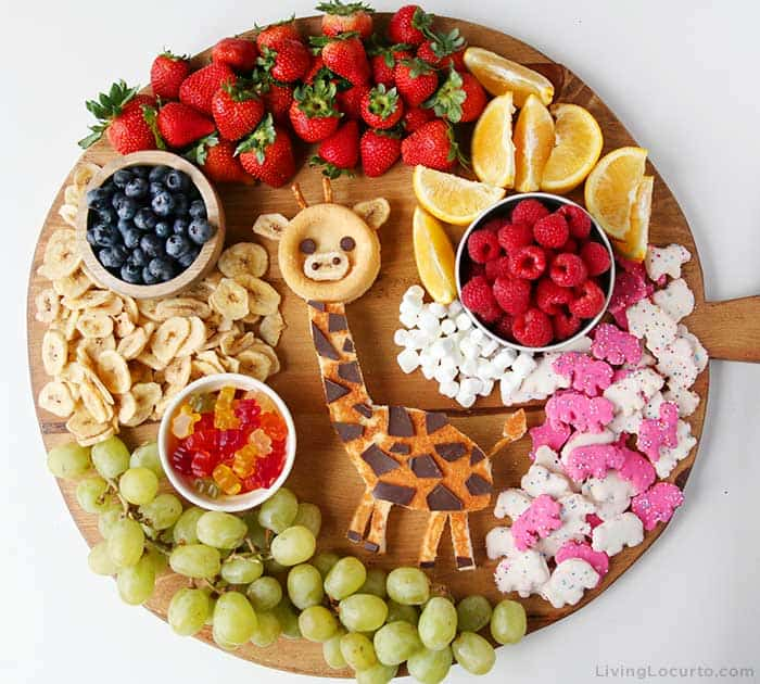 Easy Giraffe Cake Dessert Board - No Bake Snack for Birthday or Baby Shower