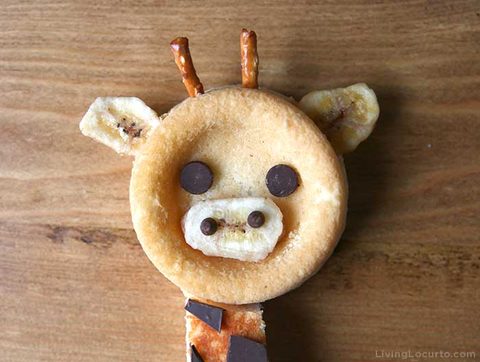 No Bake Giraffe Cake Head - Snack for Birthday or Baby Shower