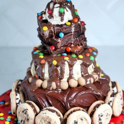 Hot Fudge Sundae Birthday Cake No Bake Recipe