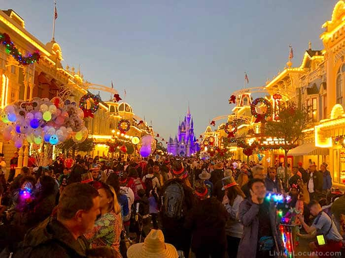 Magic Kingdom New Years Eve Disney Tips - Crowds