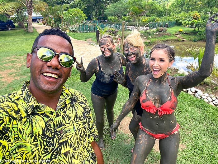 Fiji Islands Travel Tips - Mud Bath - Travel bloggers Amy Locurto