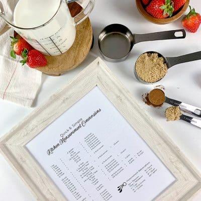Kitchen Measurement Conversion Chart