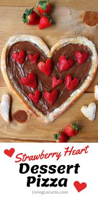 Strawberry Heart Dessert Pizza Recipe