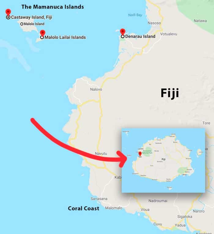 Fiji Islands Travel Tips - Map of best places to stay