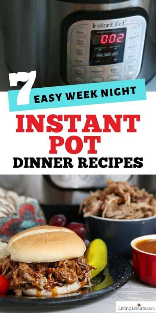 easy instant pot dinner recipes