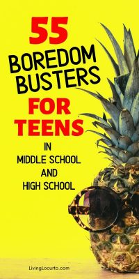 55 Activities For Teens at home boredom busters