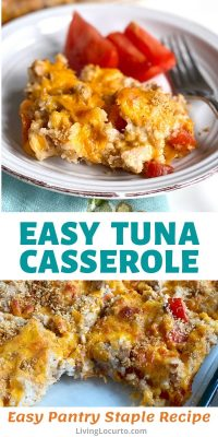 Easy Tuna Casserole Recipe - Made with canned food and kitchen pantry staples