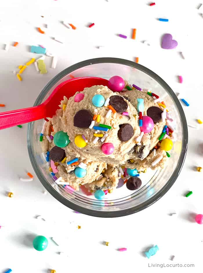 Easy Edible Cookie Dough Recipe - Chocolate Chip with Sprinkles