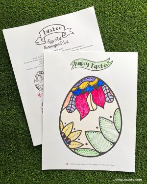 Free Printable Easter Game - Easter Egg Art Scavenger Hunt