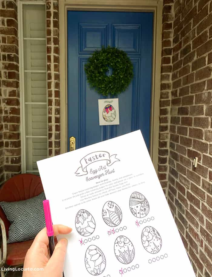 Free Printable Easter Scavenger Hunt Game