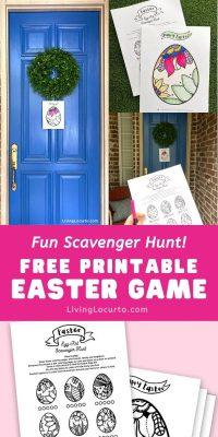 Free Printable Easter Game Living Locurto