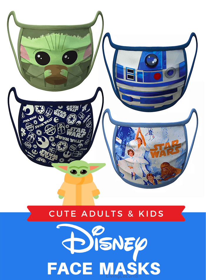 Disney fans will love these adorable cloth Disney Face Masks for adults and kids. Star Wars, Disney Princess, Toy Story and Mickey and Minnie Mouse designs.