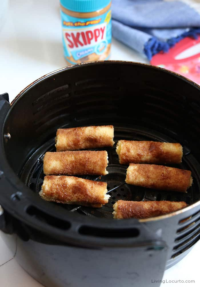 Air Fryer Peanut Butter French Toast Roll-Ups
