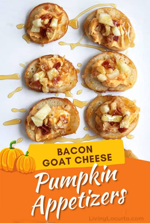 Bacon Goat Cheese Pumpkin Fall Appetizers Recipe by Living Locurto