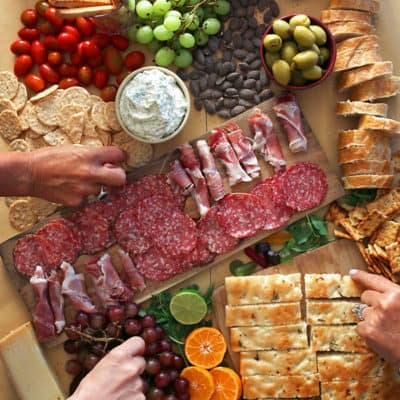 Easy Charcuterie Board Recipe - Meat and Cheese Appetizer