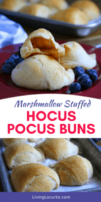 Hocus Pocus Buns Recipe - Easy Marshmallow Baked Crescent Rolls