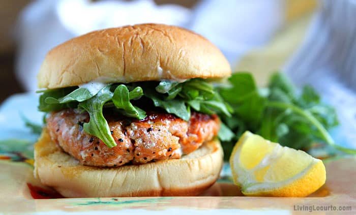 Grilled Salmon Burger