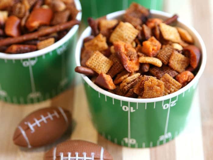 Buffalo Trial Mix Recipe - Chex Football Snack Bowls