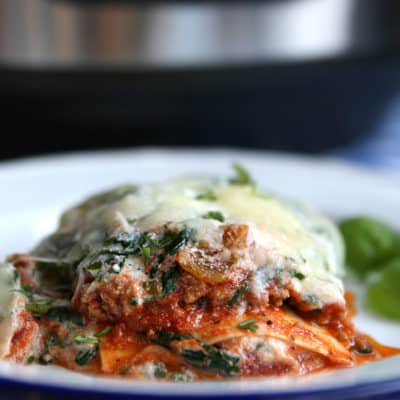 Instant Pot Turkey Spinach Lasagna