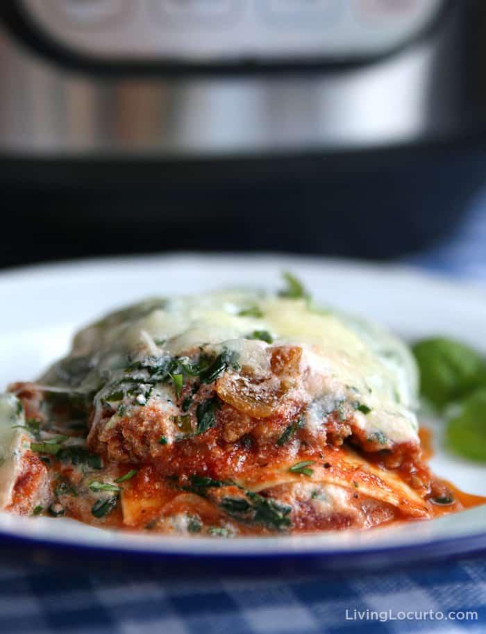 Instant Pot Turkey Spinach Lasagna Recipe Dinner Idea