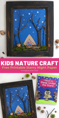 Nature Craft for Kids with Free Printable by Living Locurto