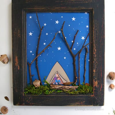 Nature Wall Art Kids Activity Craft by Living Locurto