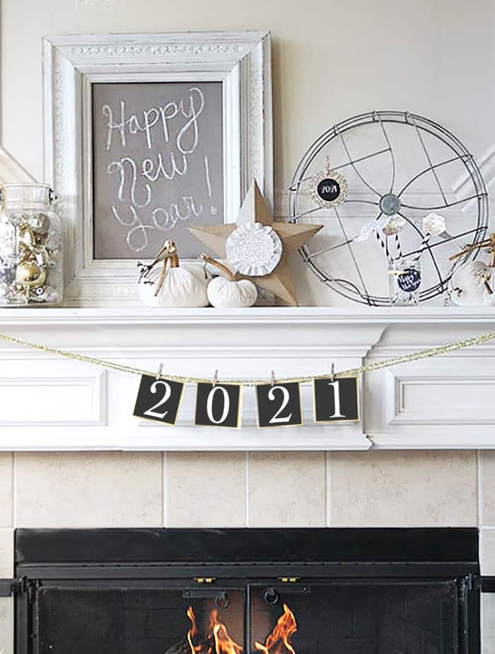2021 New Year Banner Printable