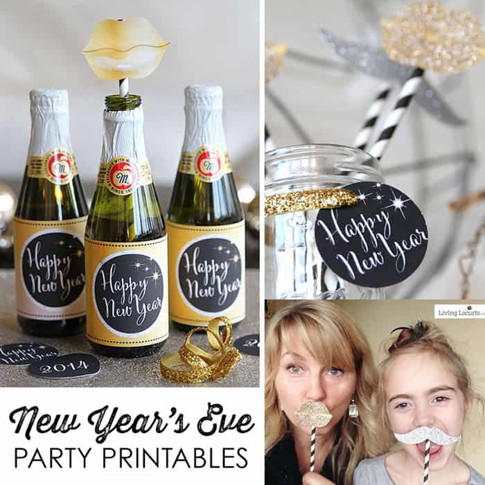 New Years Eve Party Ideas and Printables for Kids