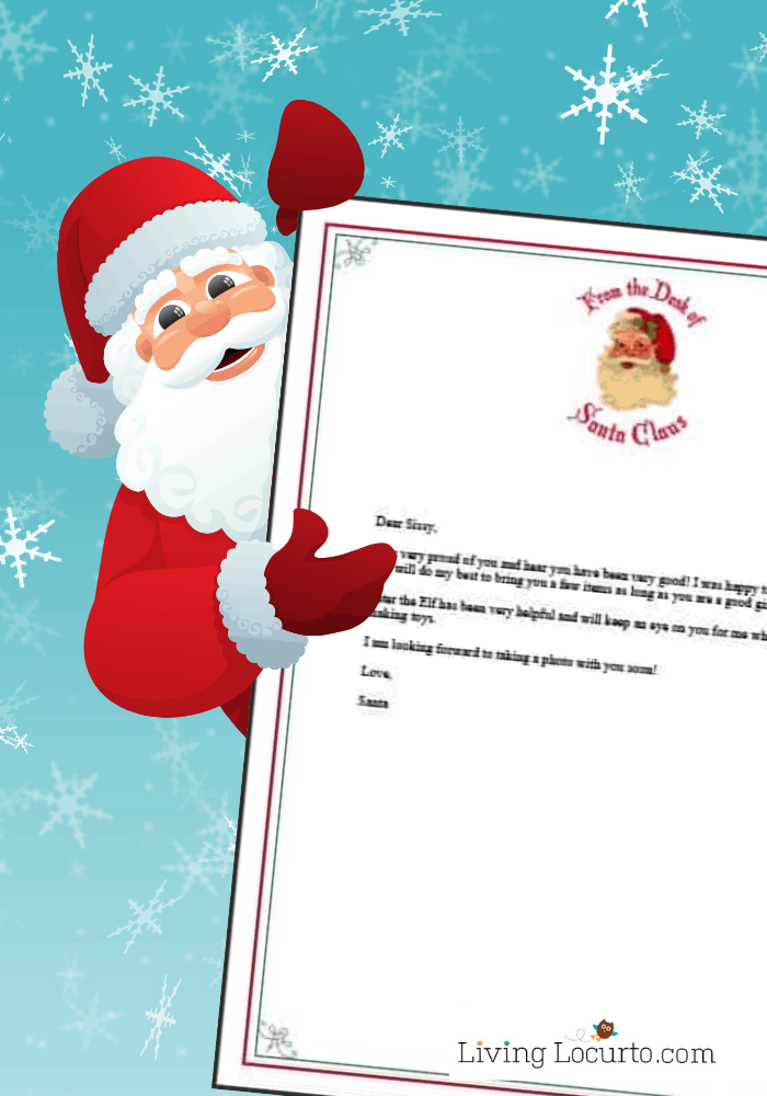 Letter From Santa Free Printable Editable Template