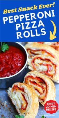 Pepperoni Pizza Rolls are a quick and easy recipe