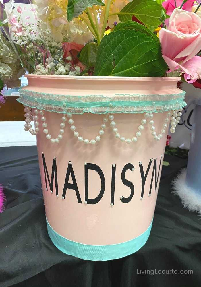 Cheer and Dance Performance Flower Buckets Crafts