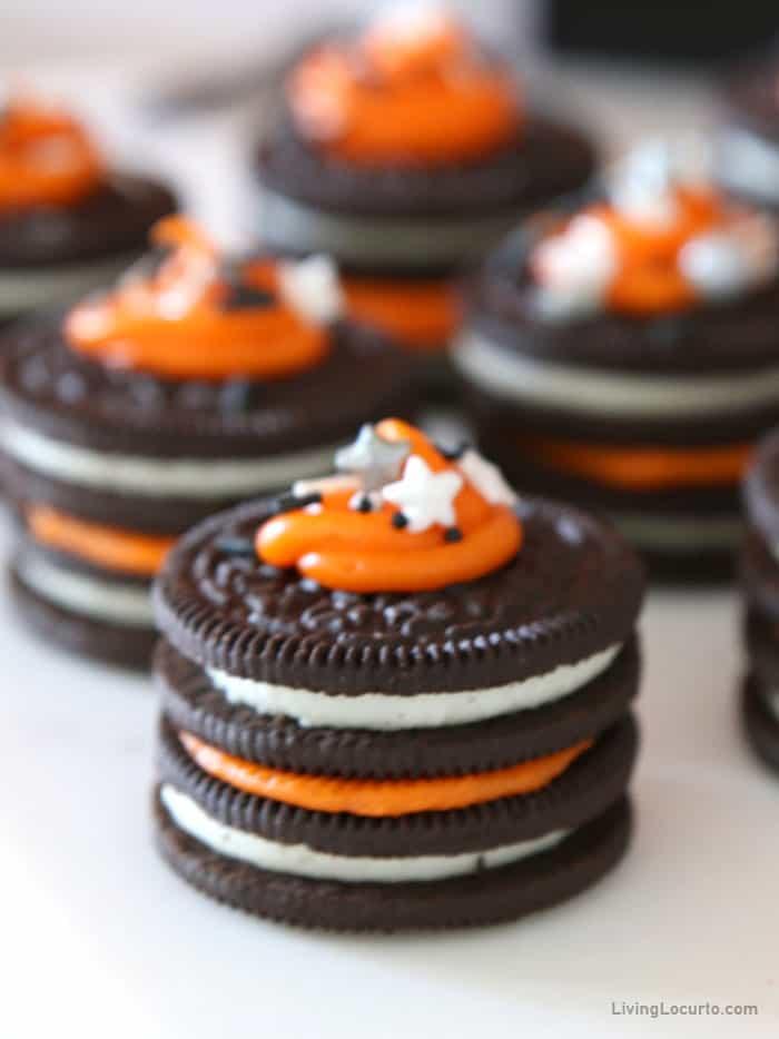 Orange and Black OREO cookies