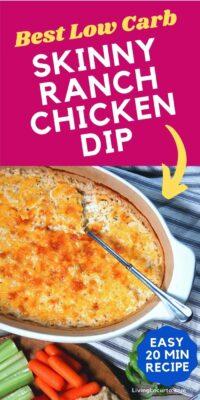 Skinny Ranch Chicken Dip