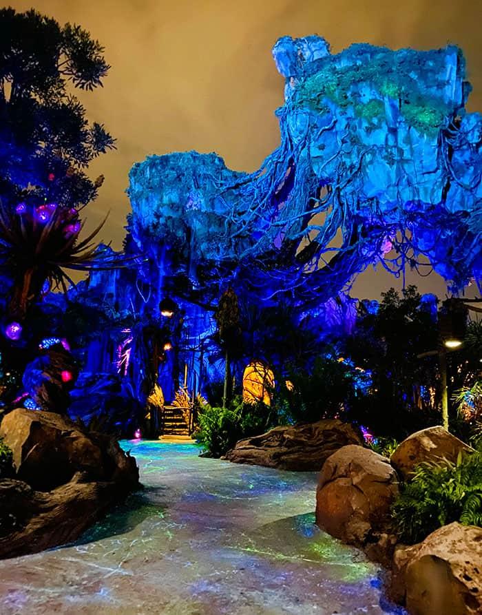 Disney Pandora Glowing at Night